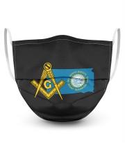 South-Dakota Freemasons 3 Layer Face Mask - Single front
