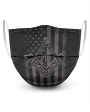 The US Freemasons 3 Layer Face Mask - Single front
