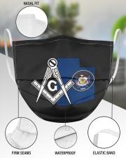 Utah Freemasons 3 Layer Face Mask - Single aos-face-mask-3-layers-lifestyle-front-49