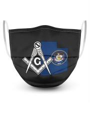 Utah Freemasons 3 Layer Face Mask - Single front
