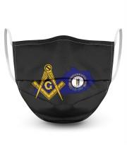 Kentucky Freemasons 3 Layer Face Mask - Single front