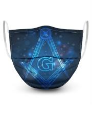 Masonic Symbol 3 Layer Face Mask - Single front