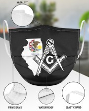 Illinois Freemasons 3 Layer Face Mask - Single aos-face-mask-3-layers-lifestyle-front-49