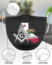 California Freemasons 3 Layer Face Mask - Single aos-face-mask-3-layers-lifestyle-front-49