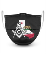 California Freemasons 3 Layer Face Mask - Single front