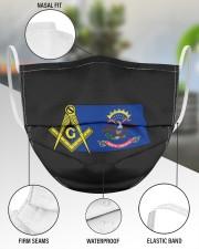 North Dakota Freemasons 3 Layer Face Mask - Single aos-face-mask-3-layers-lifestyle-front-49