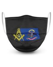 North Dakota Freemasons 3 Layer Face Mask - Single front