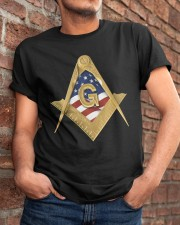 USA Flag Square and Compassed Classic T-Shirt apparel-classic-tshirt-lifestyle-26
