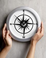 Freemasonry Compass Wall Clock aos-wall-clock-lifestyle-front-04