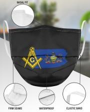 Pennsylvania Freemasons 3 Layer Face Mask - Single aos-face-mask-3-layers-lifestyle-front-49