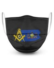 Pennsylvania Freemasons 3 Layer Face Mask - Single front
