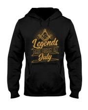 Legends Are Born In July Hooded Sweatshirt tile