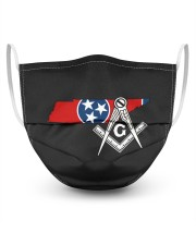 Tennessee Freemasons 3 Layer Face Mask - Single front