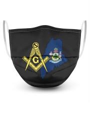 Maine Freemasons 3 Layer Face Mask - Single front