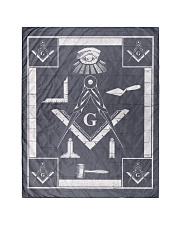 "Masonic Symbol Quilt 40""x50"" - Baby front"