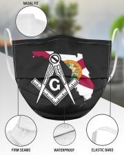 Florida Freemasons 3 Layer Face Mask - Single aos-face-mask-3-layers-lifestyle-front-49