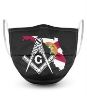 Florida Freemasons 3 Layer Face Mask - Single front
