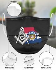 Missouri Freemasons 3 Layer Face Mask - Single aos-face-mask-3-layers-lifestyle-front-49