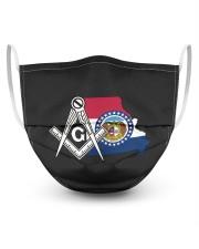 Missouri Freemasons 3 Layer Face Mask - Single front