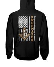 Freemason Flag Hooded Sweatshirt back