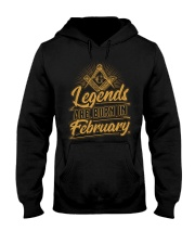 Legends Are Born In February Hooded Sweatshirt tile