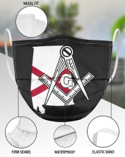 Alabama Freemasons 3 Layer Face Mask - Single aos-face-mask-3-layers-lifestyle-front-49