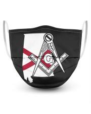 Alabama Freemasons 3 Layer Face Mask - Single front