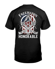 The Few The Proud The Honorable Classic T-Shirt back