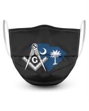 South Carolina Freemasons 3 Layer Face Mask - Single front