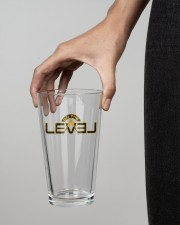 On The Level 16oz Pint Glass aos-16oz-pint-glass-lifestyle-front-04