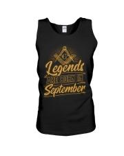 Legends Are Born In September Unisex Tank tile