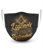 Legends Are Born In September Masks tile