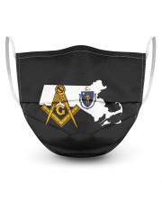 Massachusetts Freemasons 3 Layer Face Mask - Single front