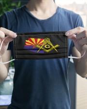 Arizona Freemasons 3 Layer Face Mask - Single aos-face-mask-3-layers-lifestyle-front-20