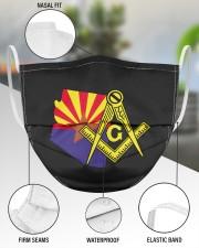 Arizona Freemasons 3 Layer Face Mask - Single aos-face-mask-3-layers-lifestyle-front-49