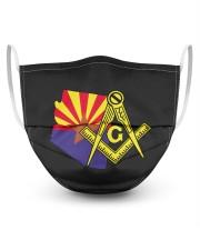 Arizona Freemasons 3 Layer Face Mask - Single front