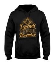 Legends Are Born In November Hooded Sweatshirt tile