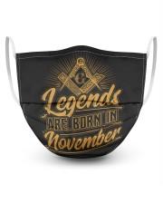 Legends Are Born In November Masks tile