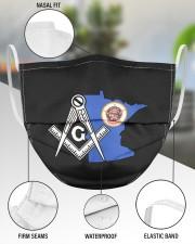 Minnesota Freemasons 3 Layer Face Mask - Single aos-face-mask-3-layers-lifestyle-front-49