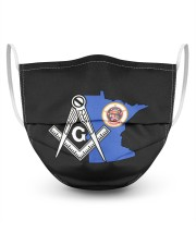 Minnesota Freemasons 3 Layer Face Mask - Single front