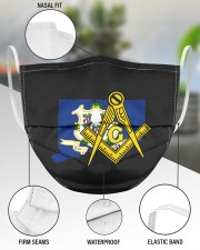 Connecticut Freemasons 3 Layer Face Mask - Single aos-face-mask-3-layers-lifestyle-front-49