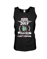 July Nurse was born with heart in sleeve Unisex Tank thumbnail