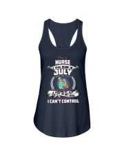 July Nurse was born with heart in sleeve Ladies Flowy Tank front