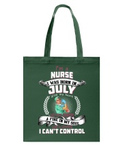 July Nurse was born with heart in sleeve Tote Bag thumbnail