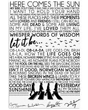 Lyrics The Beatles 16x24 Poster front