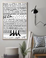 Lyrics The Beatles 16x24 Poster lifestyle-poster-1
