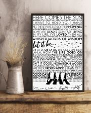 Lyrics The Beatles 16x24 Poster lifestyle-poster-3