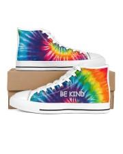 Be kind Men's High Top White Shoes thumbnail