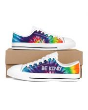 Be kind Men's Low Top White Shoes thumbnail