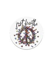 Just breathe Circle Magnet thumbnail